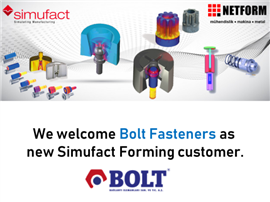 Bolt Fasteners is now using Simufact Forming